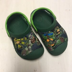 Ninja Turtle Crocs Used size 6/7